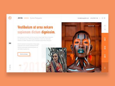 📸🖼 Portfolio — Website Concept yellow blue orange green portfolio website web webdesign red ux ui dailyui dailyux uidesign dailywebdesign