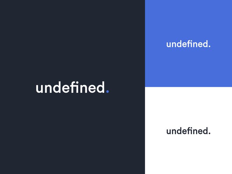 Undefined — Logo Redesign vector uidesign typography dailyui blue agency logotype logodesign logo identity design butterfly branding brand