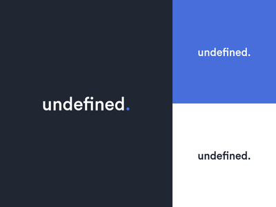 Undefined — Logo Redesign vector uidesign typography dailyui blue agency logotype logodesign logo identity design butterfly branding brand