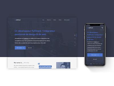 [NEW] Undefined.fr — Website branding dailywebdesign ux blue dailyui ui uidesign webdesign web website