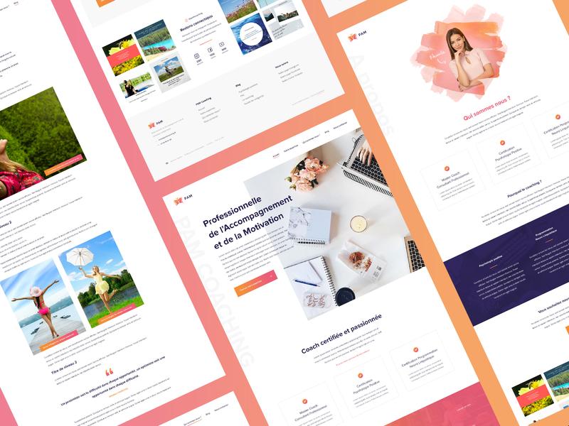 PAM Coaching — Website ux uidesign dailyui ui web webdesign website
