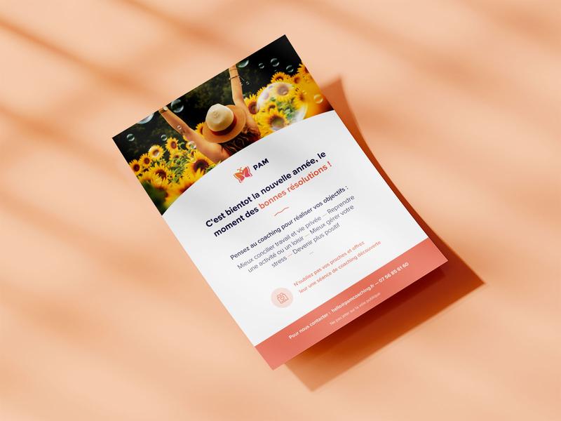 PAM Coaching — Flyers flyer design print flyers ux ui