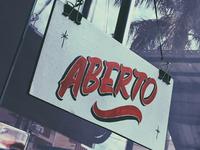 Aberto (Open) - Sign