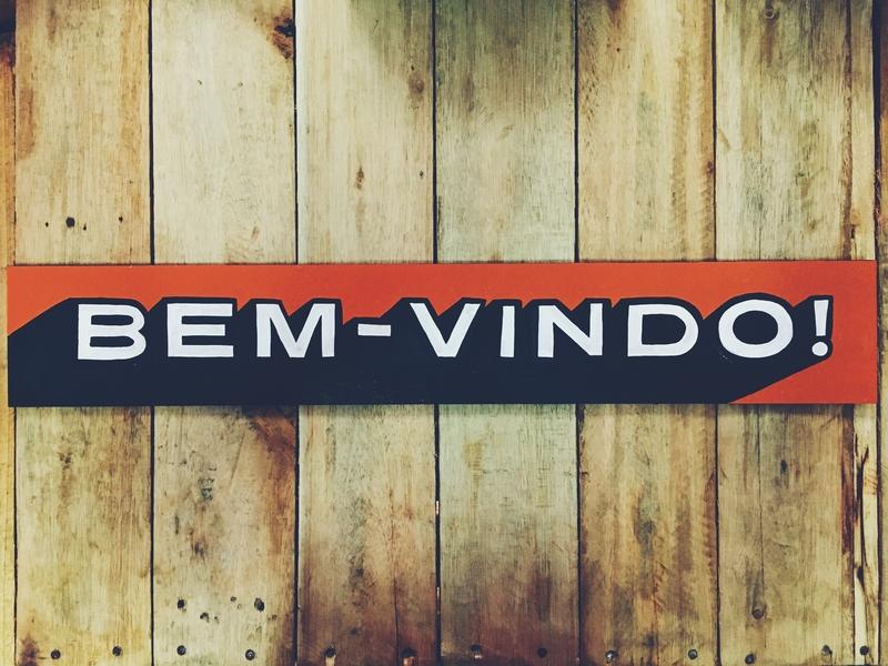 Bem vindo - SIGN bem vindo welcome signs signpainting signpainter sign painting sign painter sign brush handtype hand type hand made hand lettering hand lettered brush lettering arte art lettering handmade handlettering