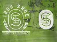 unused logo concepts, Iron Shoe Distillery