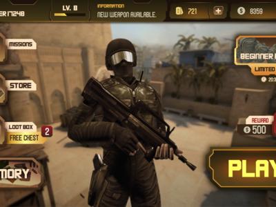 Mobile FPS Game UI Design