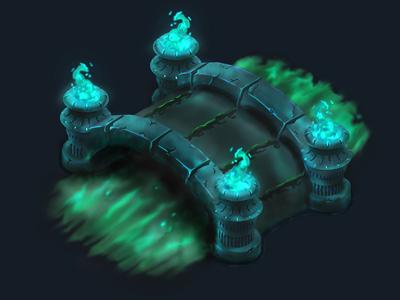 Underworld Theme Isometric Concept Art