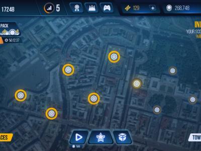 Mobile Motorcycle Game UI Design