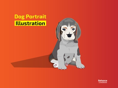 Dog Portrait Design - Illustration in (Adobe Illustrator)