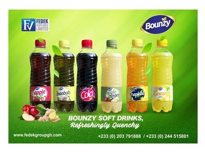 BOUNZY DRINKS POSTER DESIGN