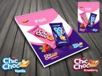 Chic Choc Strawberry and Vanilla Biscuits