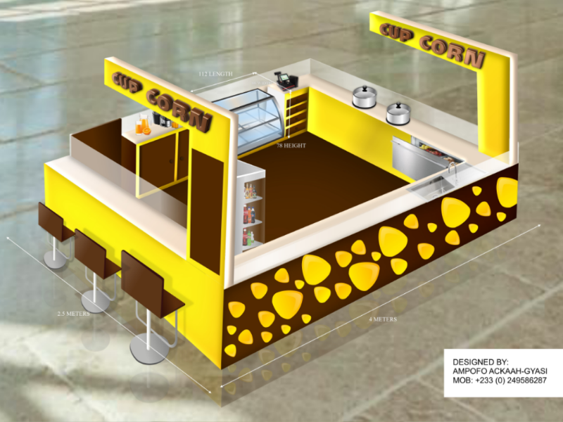3D KIOSK DESIGN FOR SHOPPING MALLS by Ampofo Ackaah-Gyasi on