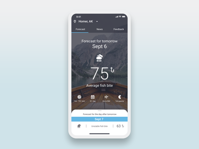 Fishing Oracle App fish bite forecast oracle fishing app fishing mobile app design app ux ui
