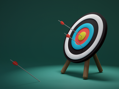 Target - 3D illustration for website rendering render exactly targeting blender b3d 3d illustration arrows arrow target