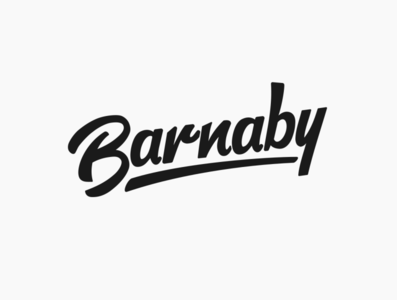 Daily logo challenge day 15/50, Hand lettering logo, Barnaby!