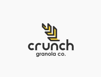 Daily logo challenge day 21/50, Granola company, Crunch!