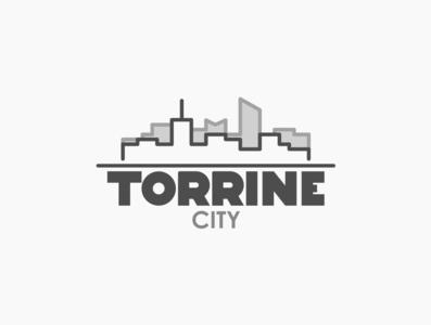 Daily logo challenge day 22/50, City logo, Torrine city!