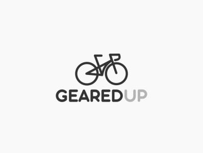 Daily logo challenge 24/50, Bike shop logo, GearedUp!