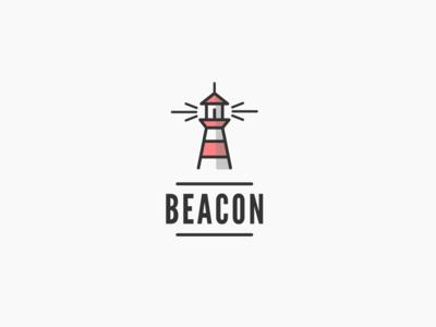 Daily logo challenge day 31/50, lighthouse logo, Beacon!