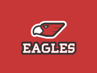 Daily logo challenge day 32/50, sports logo, Eagles!