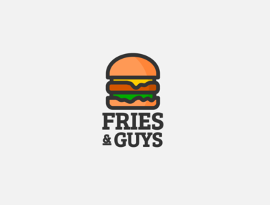 Daily logo challenge day 33/50, burger joint, Fries and guys!