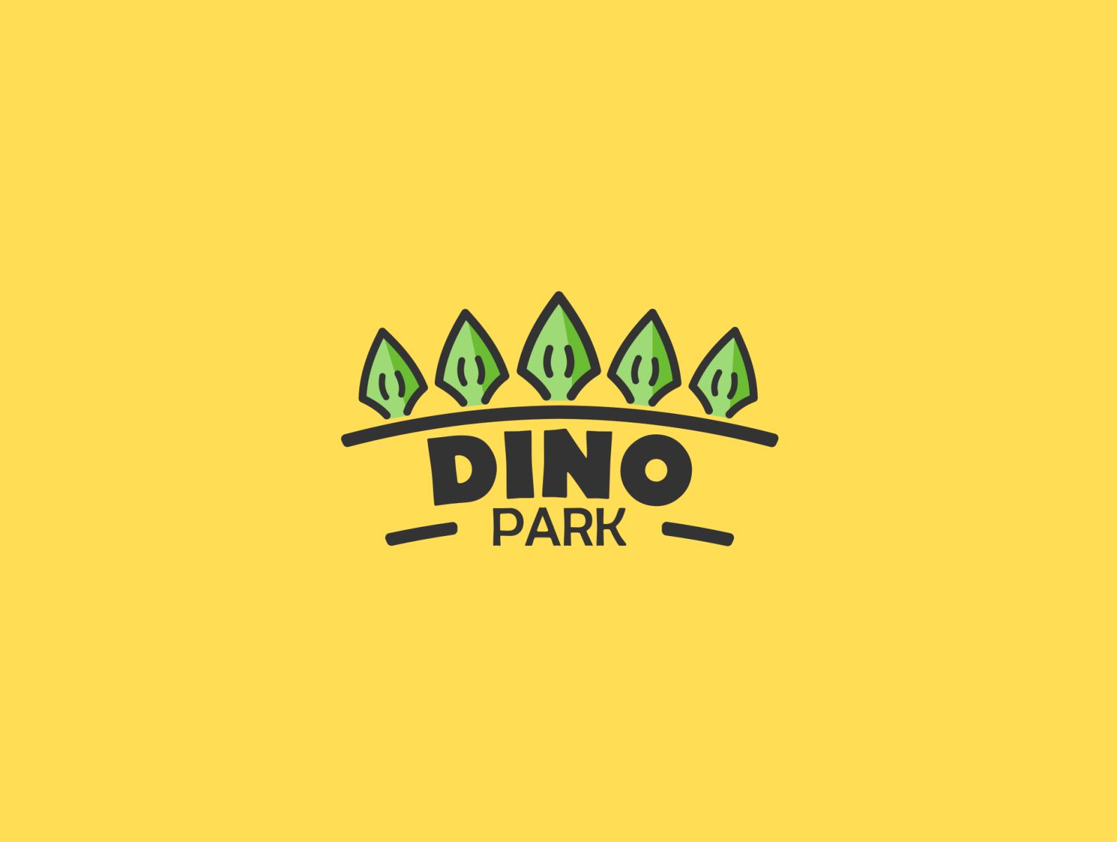 Daily Logo Challenge 35 50 Dinosaur Amusement Park Dino Park By Andrew On Dribbble