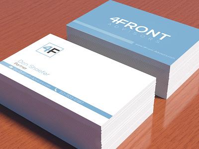 4Front Advisors  print card design