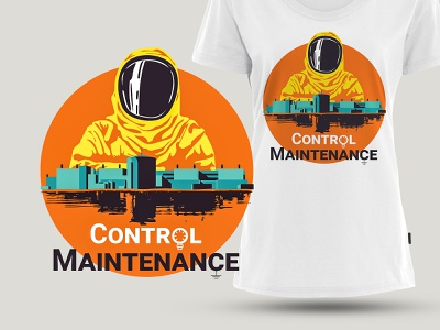 Control Maintenance T-shirt Design design illustration