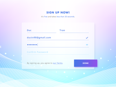 Sign Up - Daily UI challenge daily ui challenge trend day1 dailyui signup