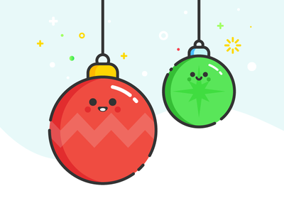 Christmas Ball holiday winter illustration sticker cute ball character christmas xmas