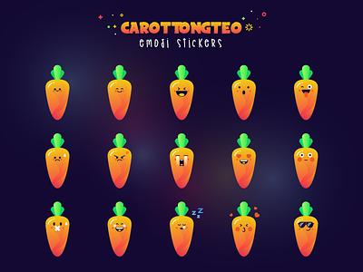 🥕 Emoji Set (Carottongteo) emotion face illustration cute sticker character emoji carrot
