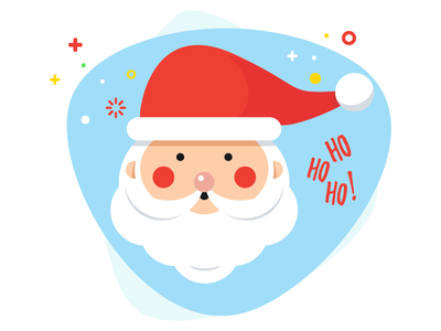 Santa Claus is coming to town cute noel xmas christmas illustration character claus santa