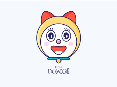 Dorami - Childhood Characters japan fanart cute cartoon illustration character childhood doraemon