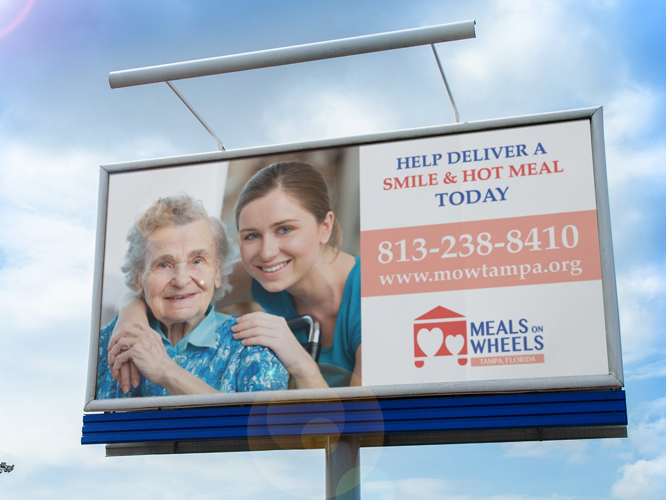 Meals on Wheels Rebranding design billboard awareness photoshop logo design nonprofit rebranding full sail 2018