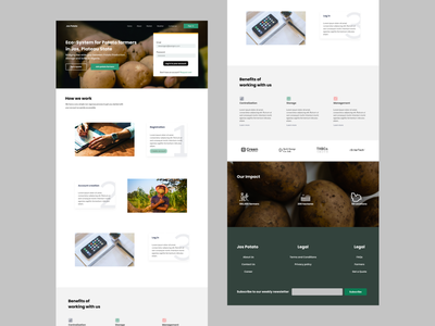 JosPotato Website design website figma ux ui