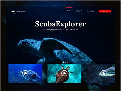 Scuba figma design icon vector website branding typography ux web ui