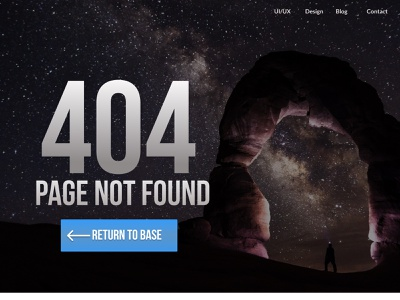 404 Page Not Found website design figma typography web ux ui