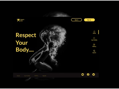 Gym Center website figma design typography web ux ui
