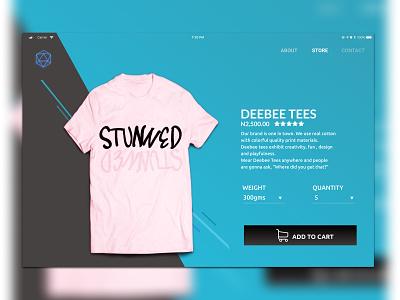 Deebee Tees website design figma web ux ui