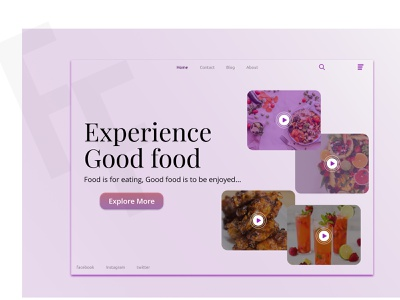 Goof Foodie  1 website figma design web ux ui