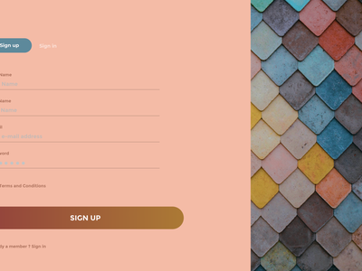 Sign In With Pattern app website typography figma web ux ui design