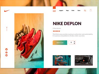 Deplon Nike branding website typography figma web ui ux design