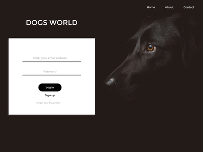 Dog World design ui ux icon website typography figma web
