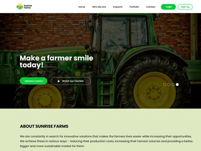 Sunrise Farms website typography figma web design ux ui