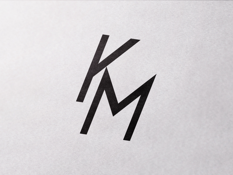 KM web vector monogram designer km symbol simple minimal logo lettering illustrator illustration identity design clean character branding