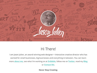 Jasonjulien Launch launch website redesign hand made sketch drawing hire me