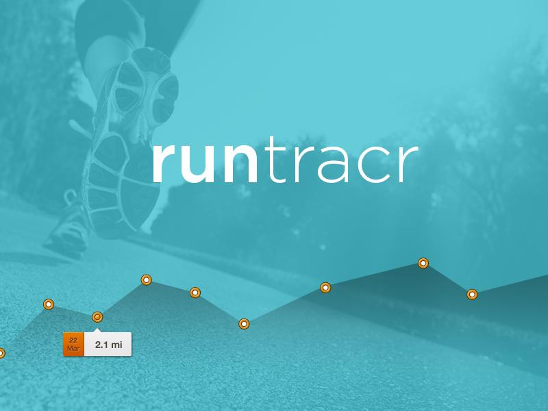 Runtracr brand app idea concept graph line tooltip run running