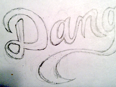 Dang... logo hand drawn pencil freehand rusty