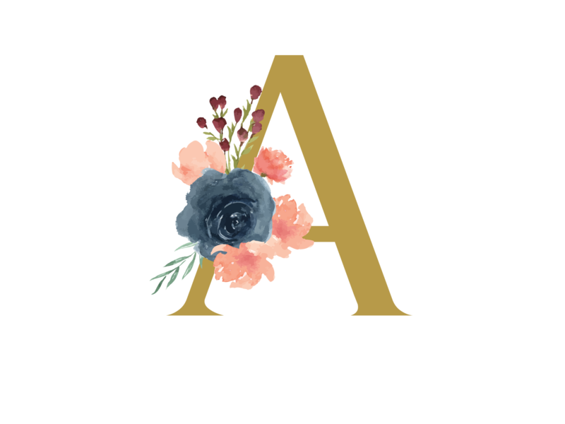 Alphabet A flower