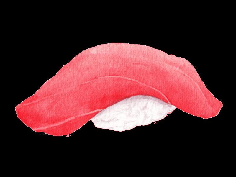 Sushi Japanese food watercolor
